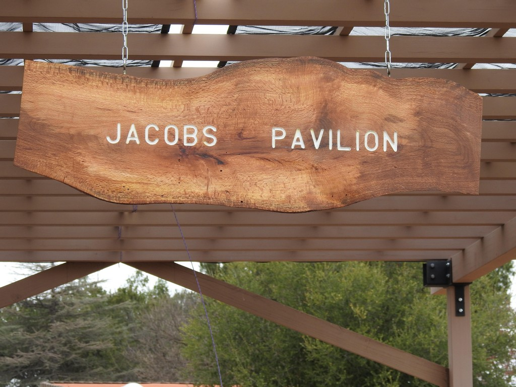 Pergola area named after founder, Don Jacobs